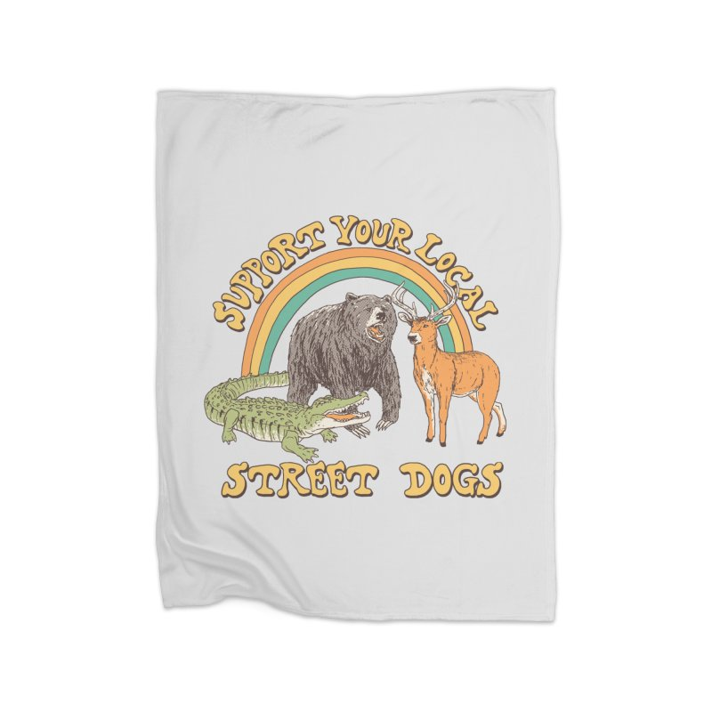 Street Dogs Home Fleece Blanket Blanket by Hillary White
