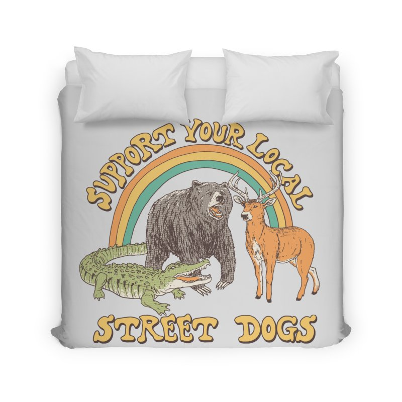 Street Dogs Home Duvet by Hillary White