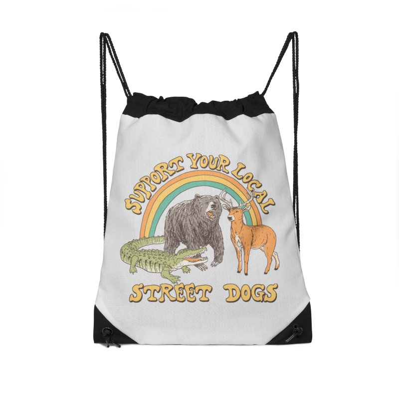 Street Dogs Accessories Drawstring Bag Bag by Hillary White