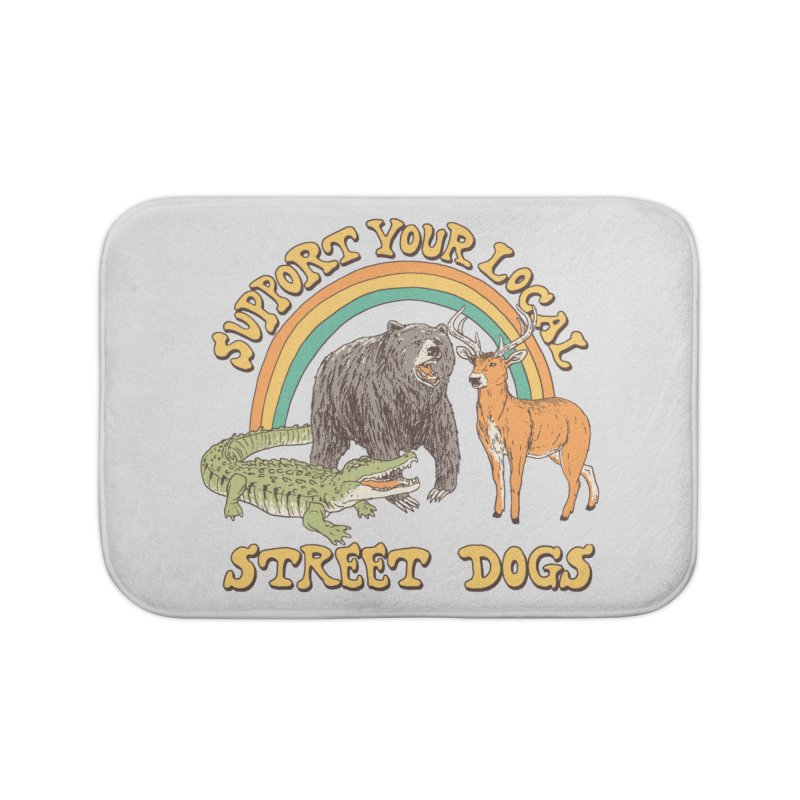 Street Dogs Home Bath Mat by Hillary White