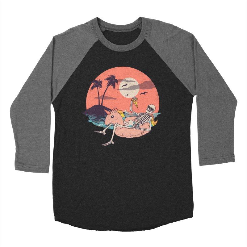 Summer Forever Women's Baseball Triblend Longsleeve T-Shirt by Hillary White