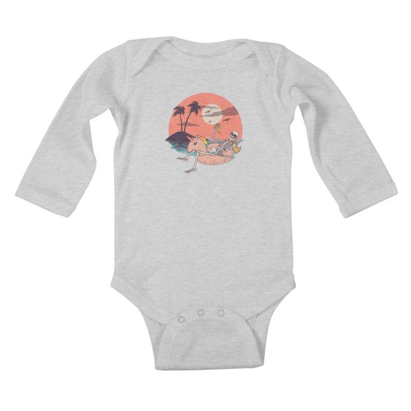Summer Forever Kids Baby Longsleeve Bodysuit by Hillary White
