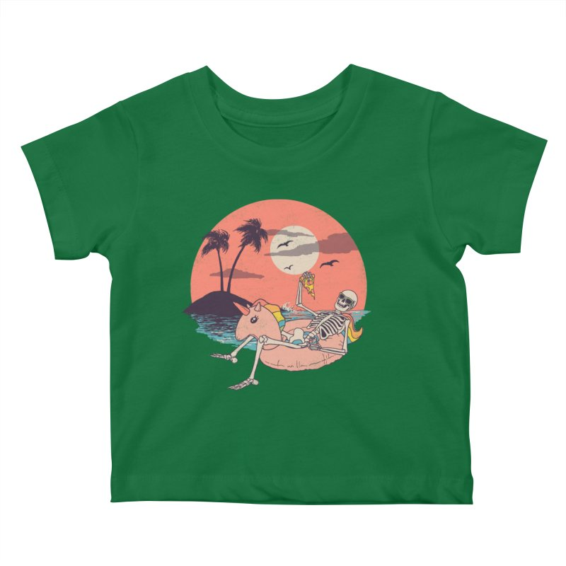 Summer Forever Kids Baby T-Shirt by Hillary White