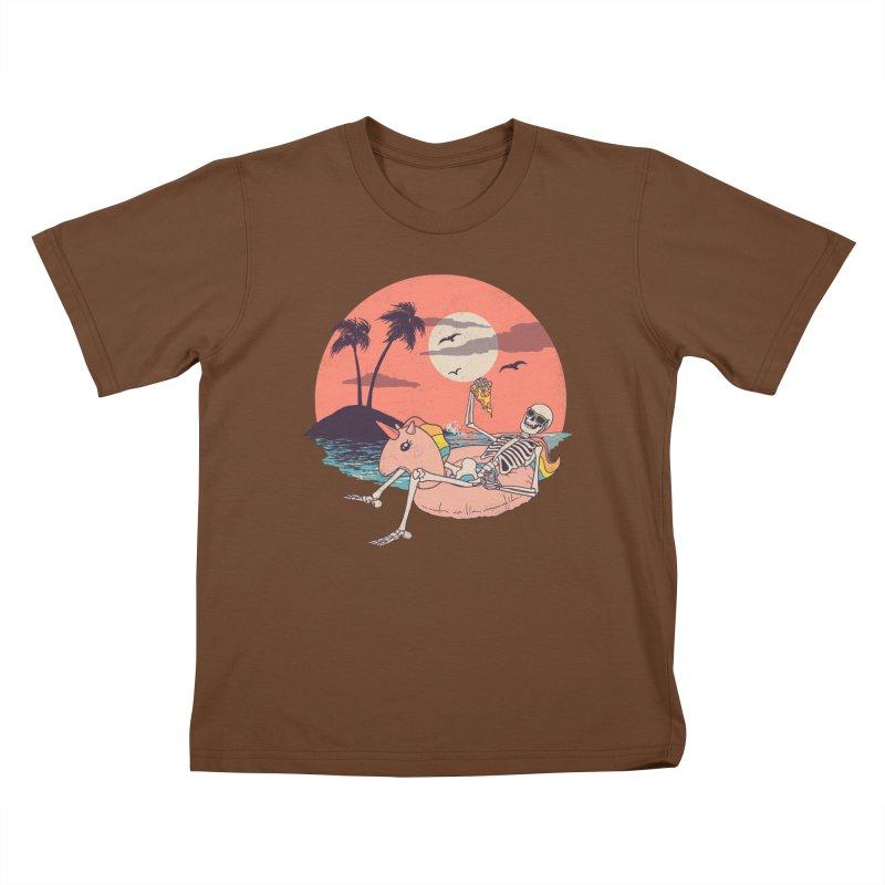 Summer Forever Kids T-Shirt by Hillary White