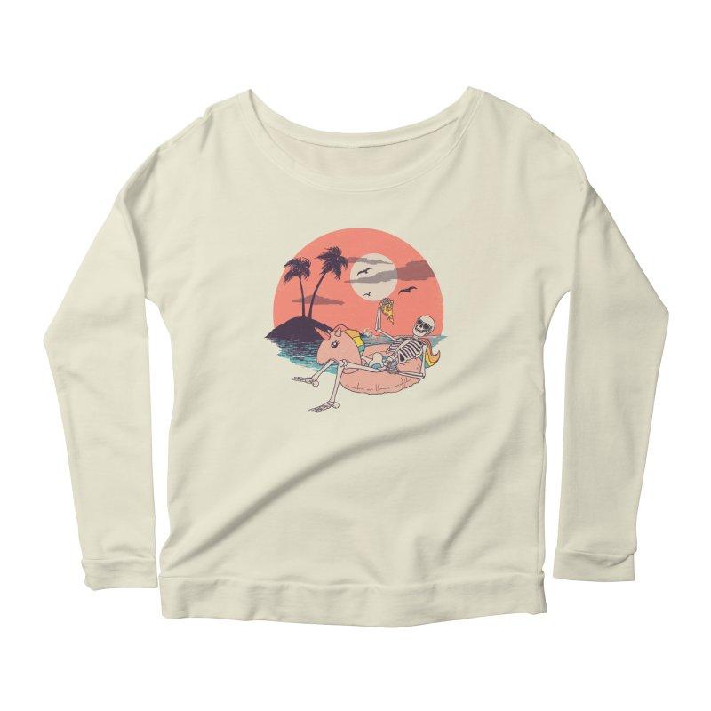 Summer Forever Women's Scoop Neck Longsleeve T-Shirt by Hillary White