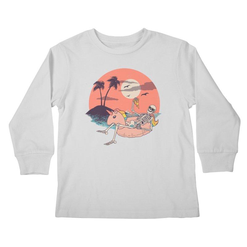 Summer Forever Kids Longsleeve T-Shirt by Hillary White