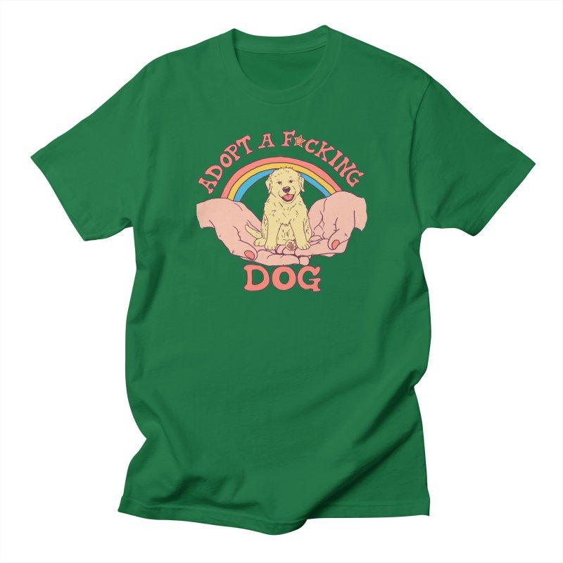 Adopt A F*cking Dog Men's Regular T-Shirt by Hillary White