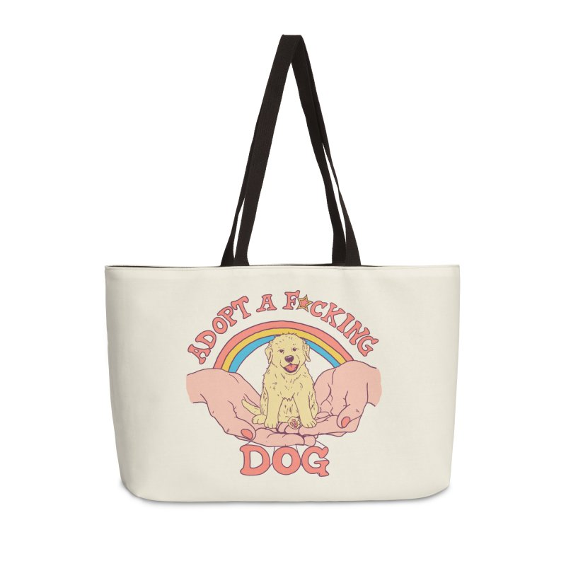 Adopt A F*cking Dog Accessories Weekender Bag Bag by Hillary White