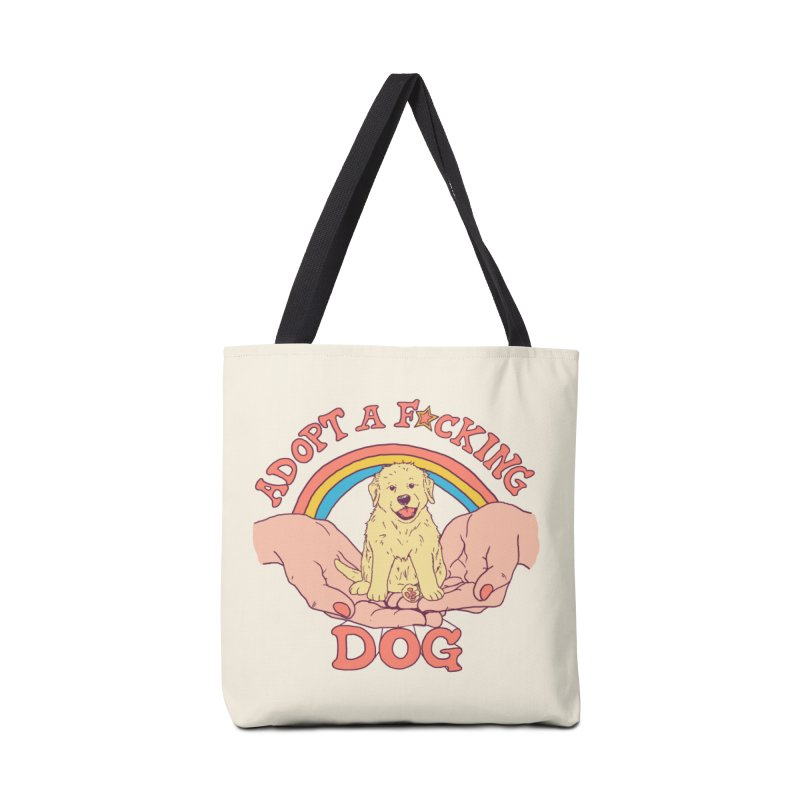 Adopt A F*cking Dog Accessories Tote Bag Bag by Hillary White