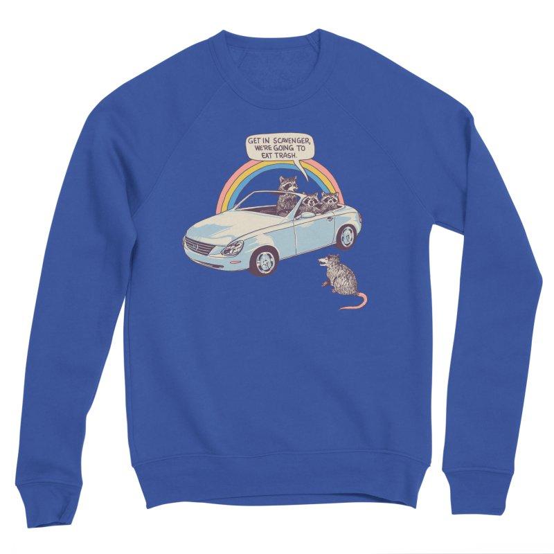 Get In Scavenger Men's Sponge Fleece Sweatshirt by Hillary White