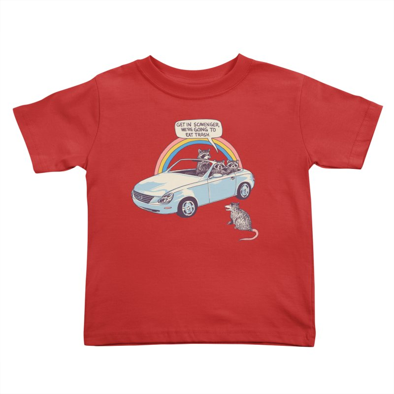 Get In Scavenger Kids Toddler T-Shirt by Hillary White