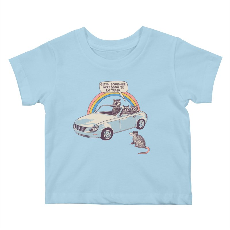 Get In Scavenger Kids Baby T-Shirt by Hillary White