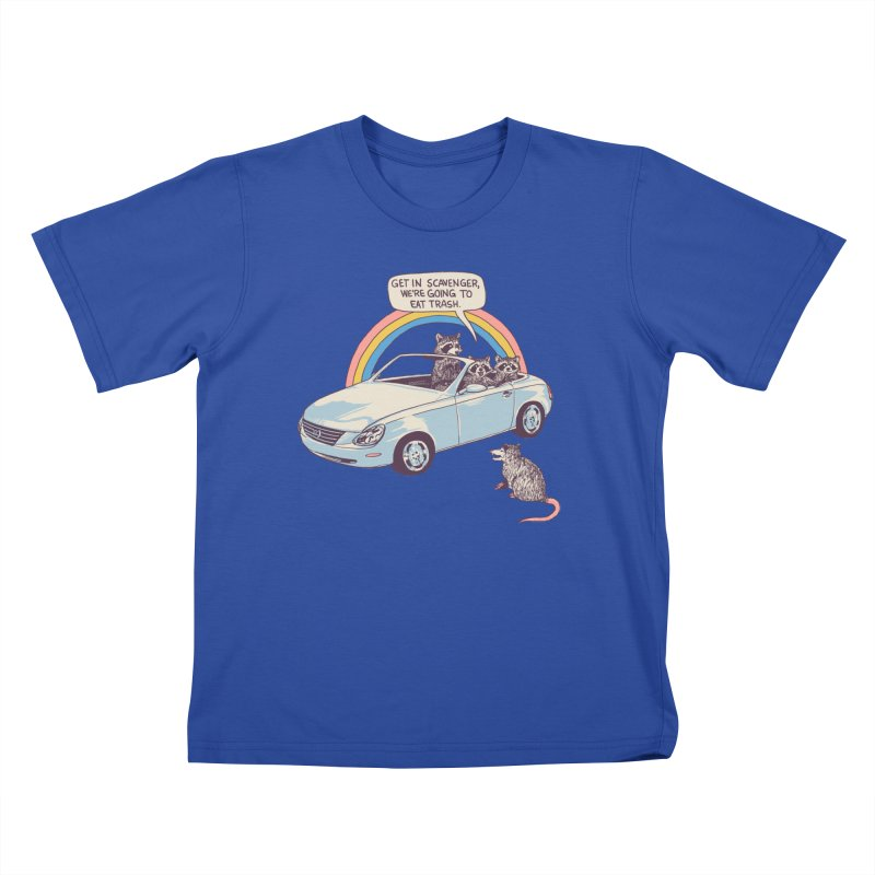 Get In Scavenger Kids T-Shirt by Hillary White
