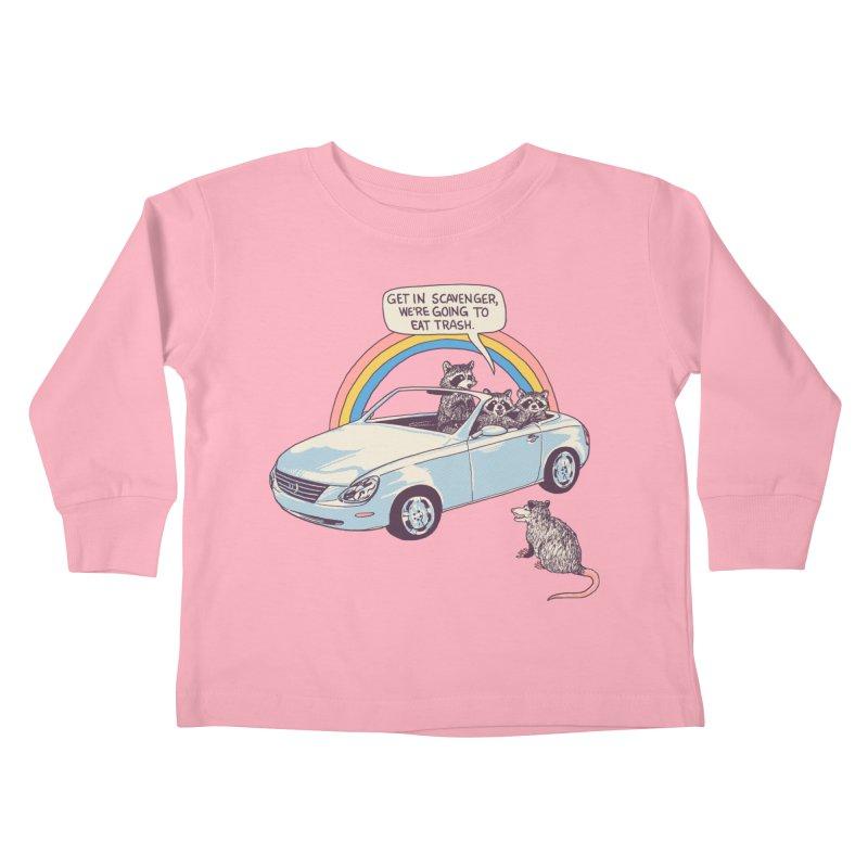 Get In Scavenger Kids Toddler Longsleeve T-Shirt by Hillary White