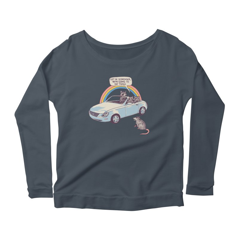 Get In Scavenger Women's Scoop Neck Longsleeve T-Shirt by Hillary White