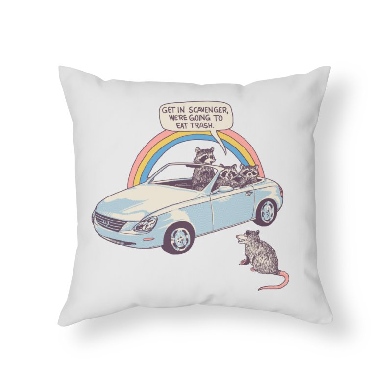 Get In Scavenger Home Throw Pillow by Hillary White