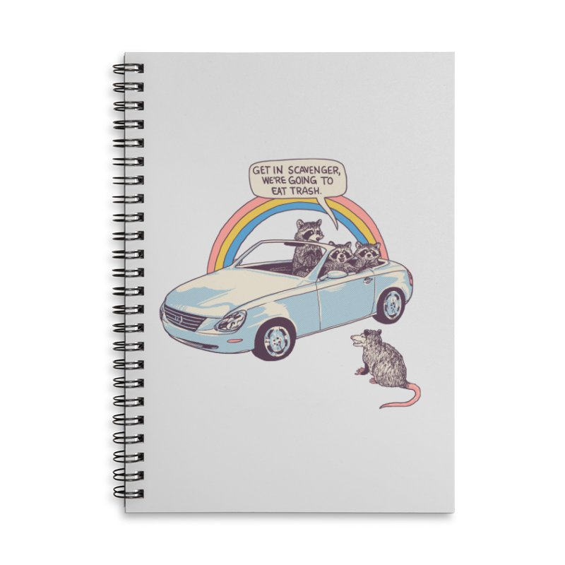 Get In Scavenger Accessories Lined Spiral Notebook by Hillary White