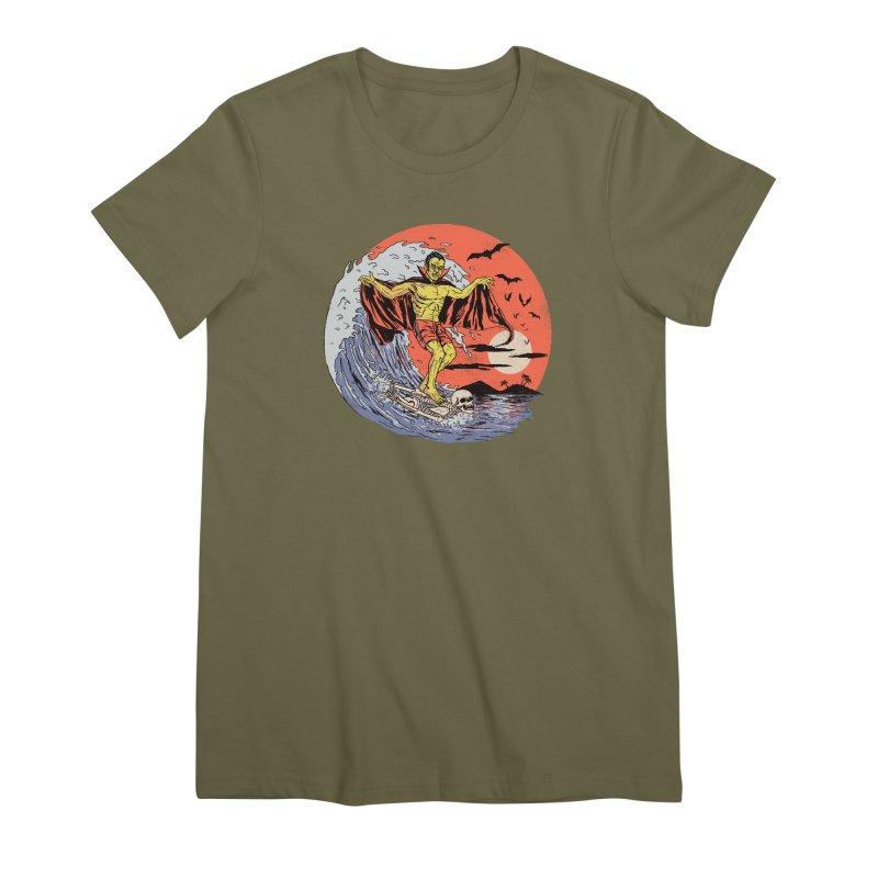 Body Surfer Women's Premium T-Shirt by Hillary White