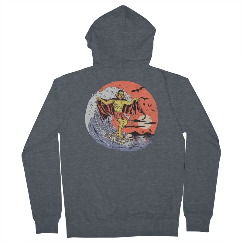 Body Surfer Men's French Terry Zip-Up Hoody by Hillary White