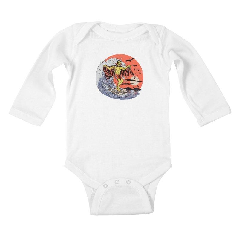 Body Surfer Kids Baby Longsleeve Bodysuit by Hillary White