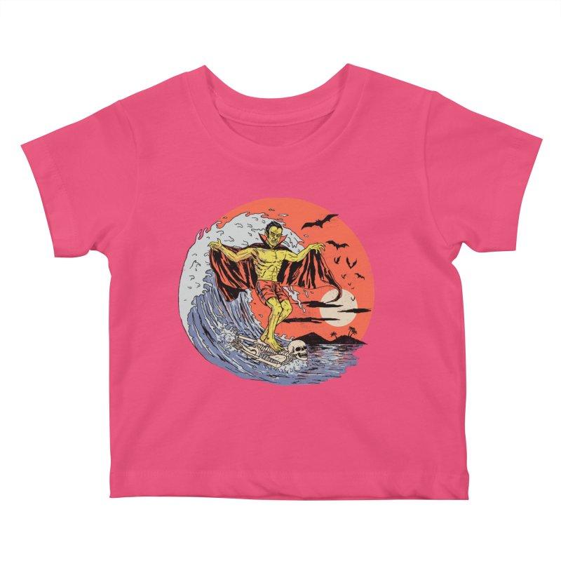 Body Surfer Kids Baby T-Shirt by Hillary White