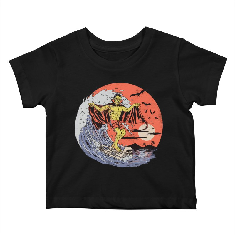 Body Surfer Kids Baby T-Shirt by Hillary White