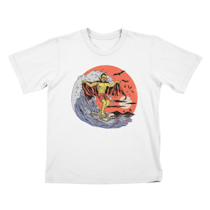 Body Surfer Kids T-Shirt by Hillary White