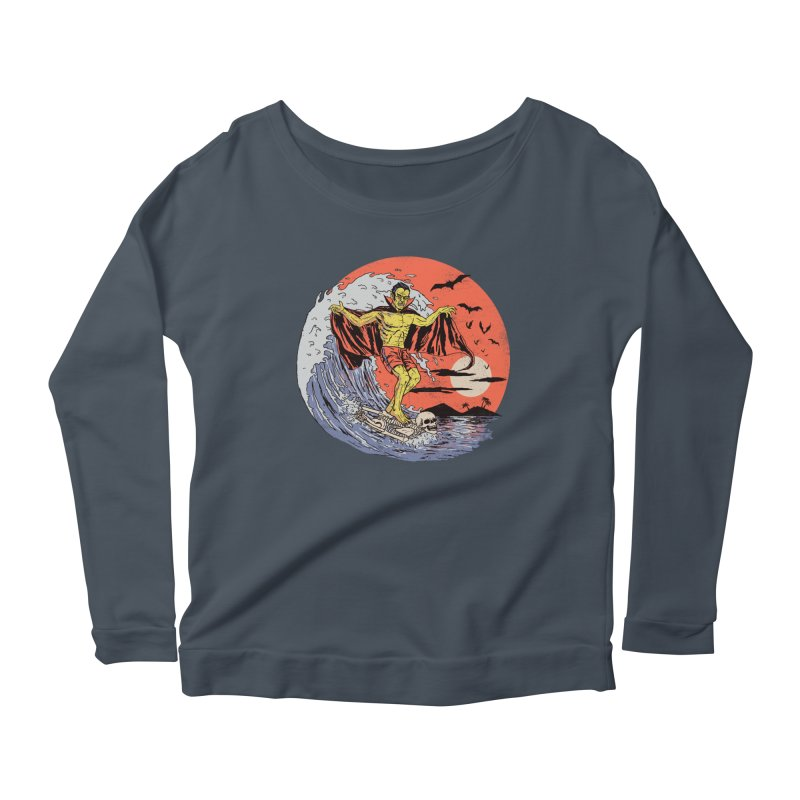 Body Surfer Women's Scoop Neck Longsleeve T-Shirt by Hillary White