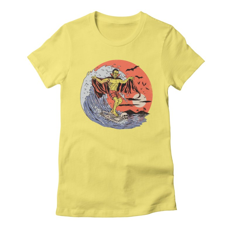 Body Surfer Women's Fitted T-Shirt by Hillary White
