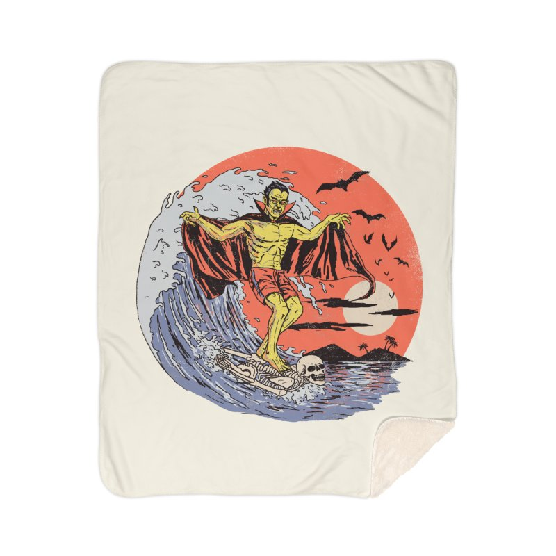 Body Surfer Home Sherpa Blanket Blanket by Hillary White