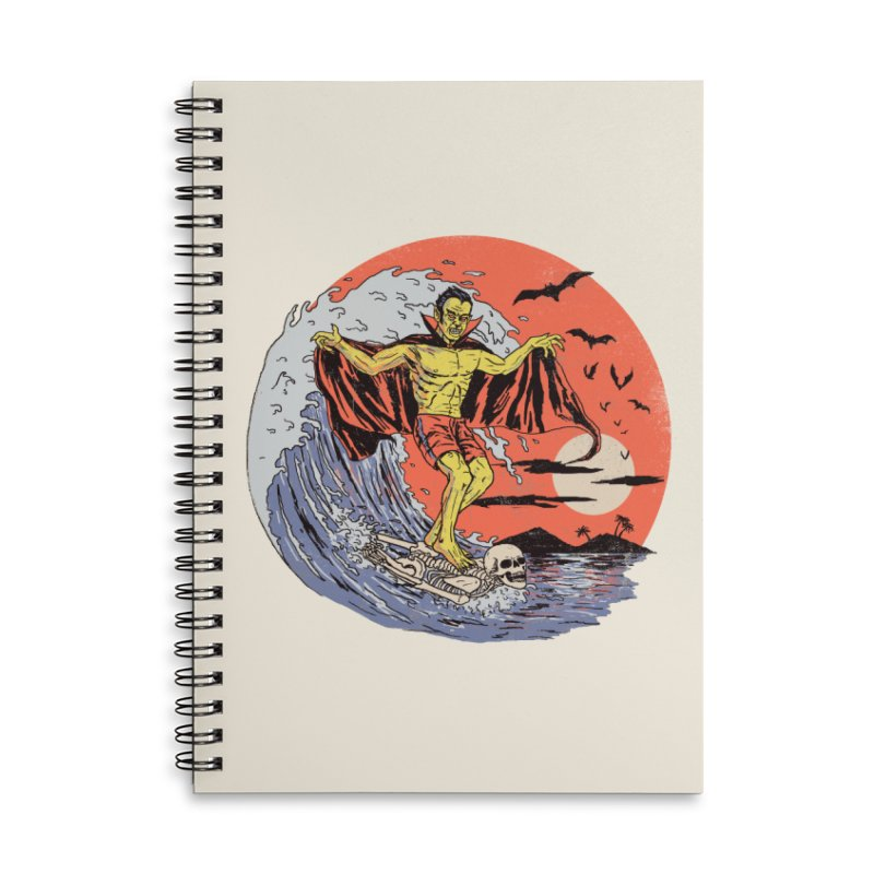 Body Surfer Accessories Lined Spiral Notebook by Hillary White