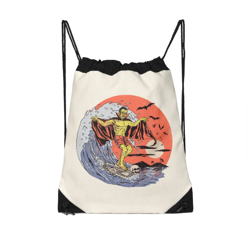 Body Surfer Accessories Drawstring Bag Bag by Hillary White