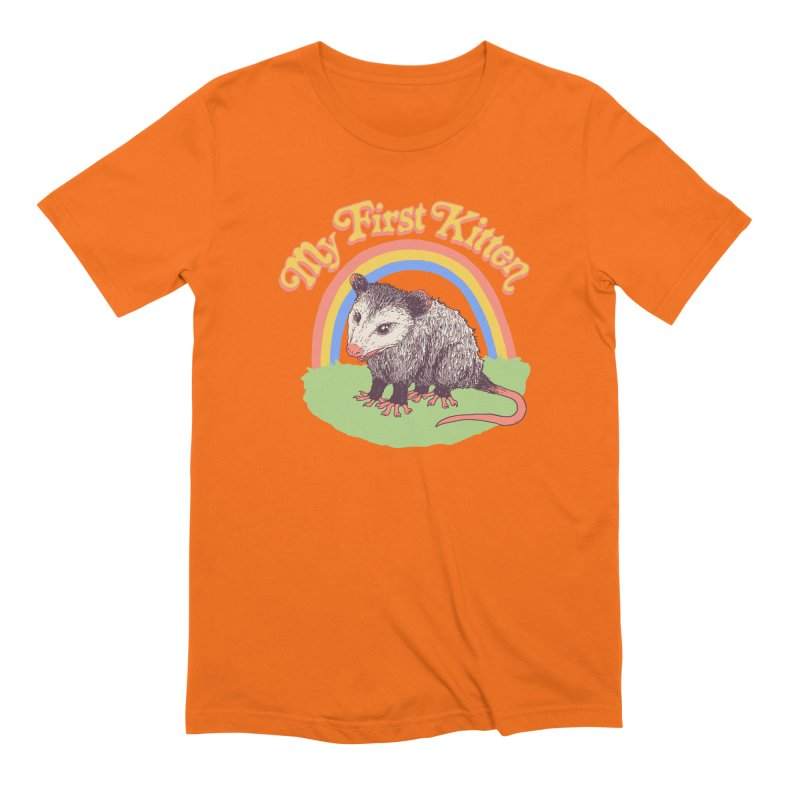 My First Kitten Men's Extra Soft T-Shirt by Hillary White