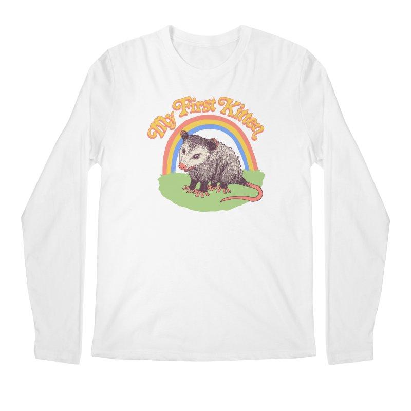 My First Kitten Men's Regular Longsleeve T-Shirt by Hillary White