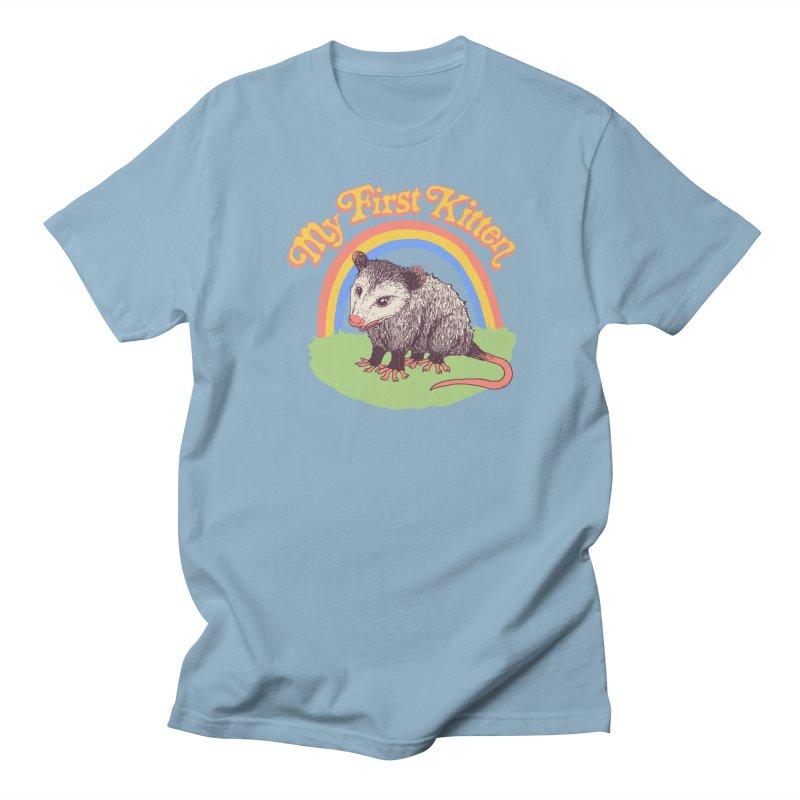 My First Kitten Men's Regular T-Shirt by Hillary White