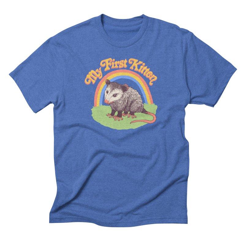 My First Kitten Men's Triblend T-Shirt by Hillary White
