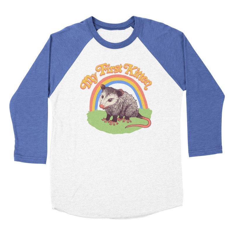 My First Kitten Women's Baseball Triblend Longsleeve T-Shirt by Hillary White