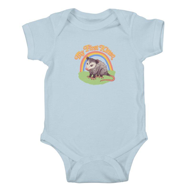 My First Kitten Kids Baby Bodysuit by Hillary White Rabbit