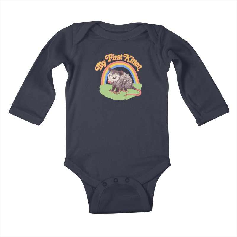 My First Kitten Kids Baby Longsleeve Bodysuit by Hillary White