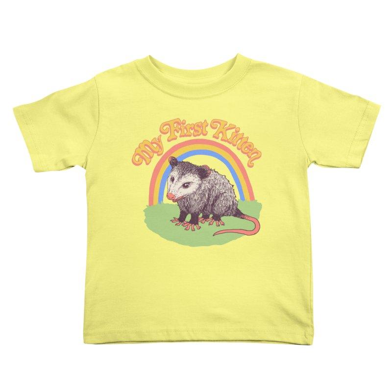 My First Kitten Kids Toddler T-Shirt by Hillary White