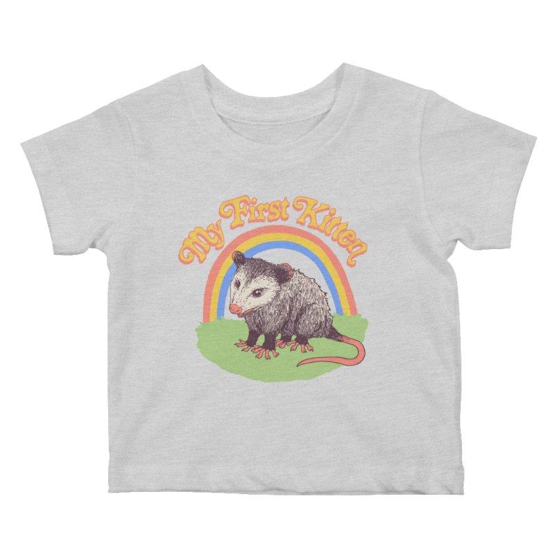 My First Kitten Kids Baby T-Shirt by Hillary White