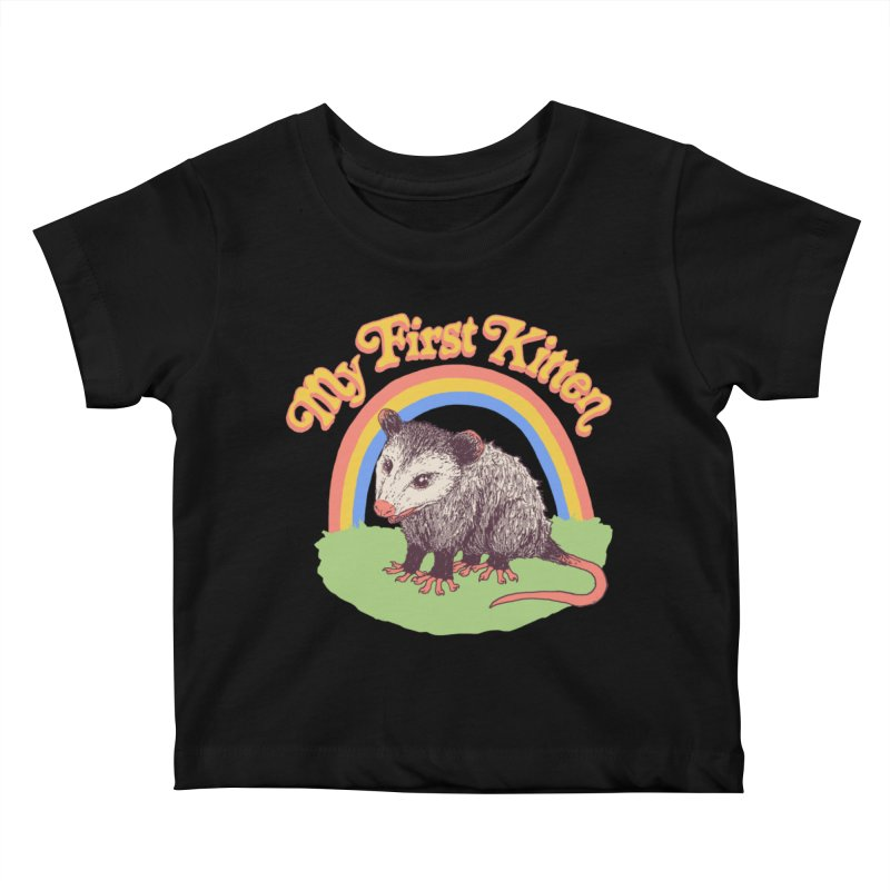 My First Kitten Kids Baby T-Shirt by Hillary White