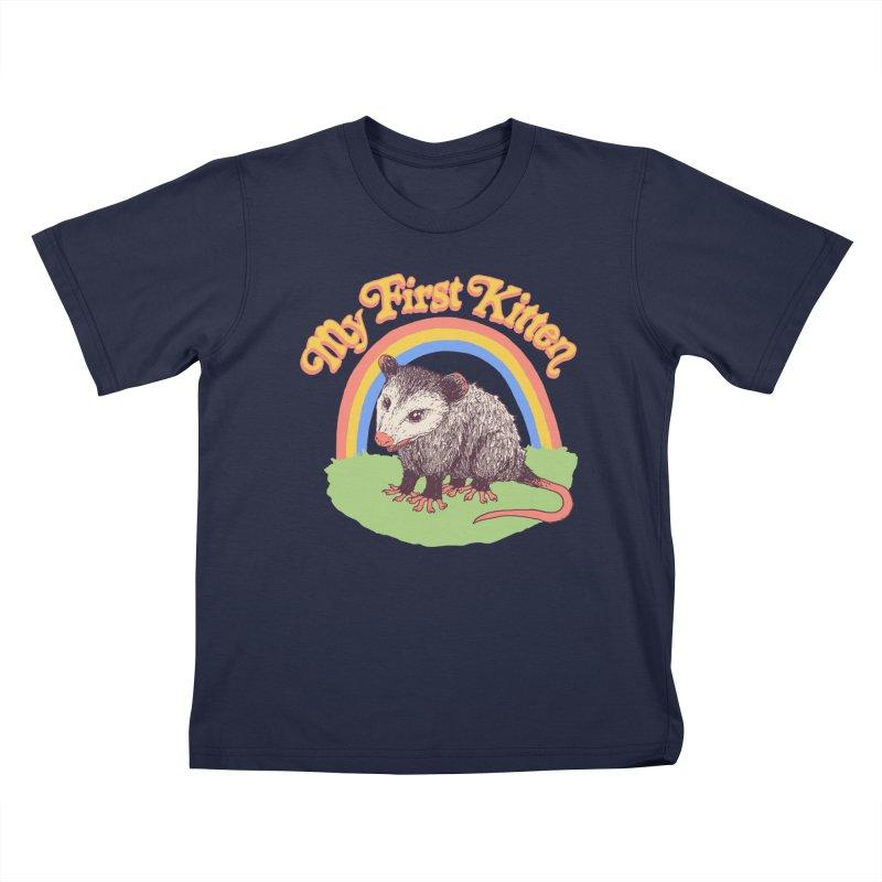 My First Kitten Kids T-Shirt by Hillary White