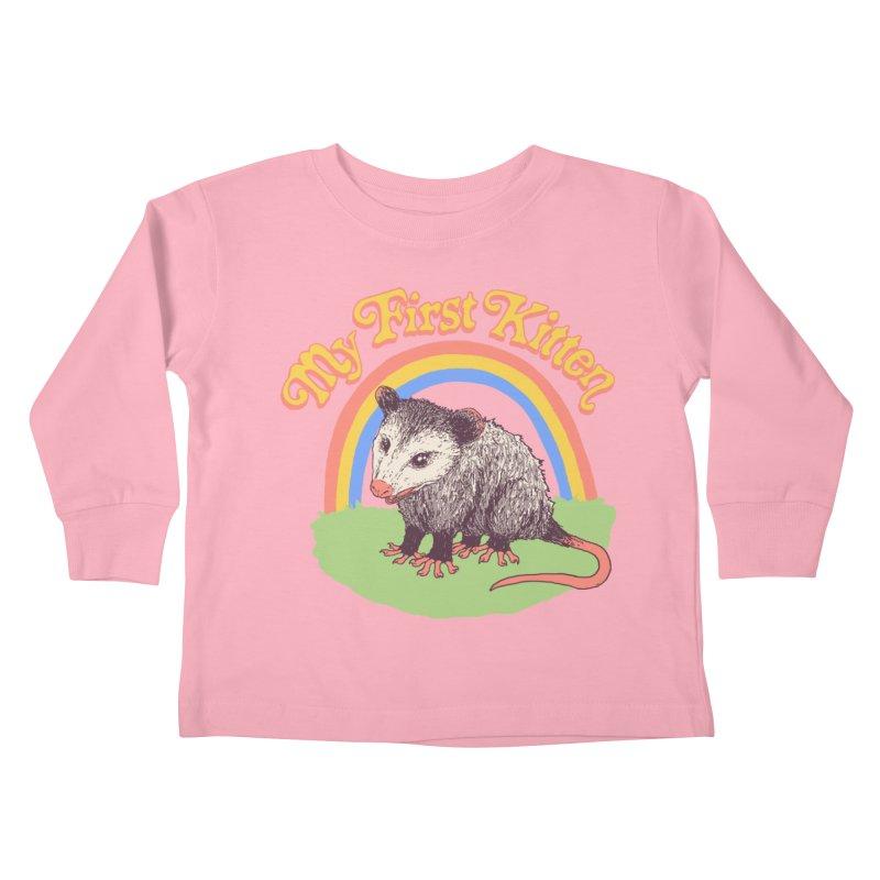 My First Kitten Kids Toddler Longsleeve T-Shirt by Hillary White