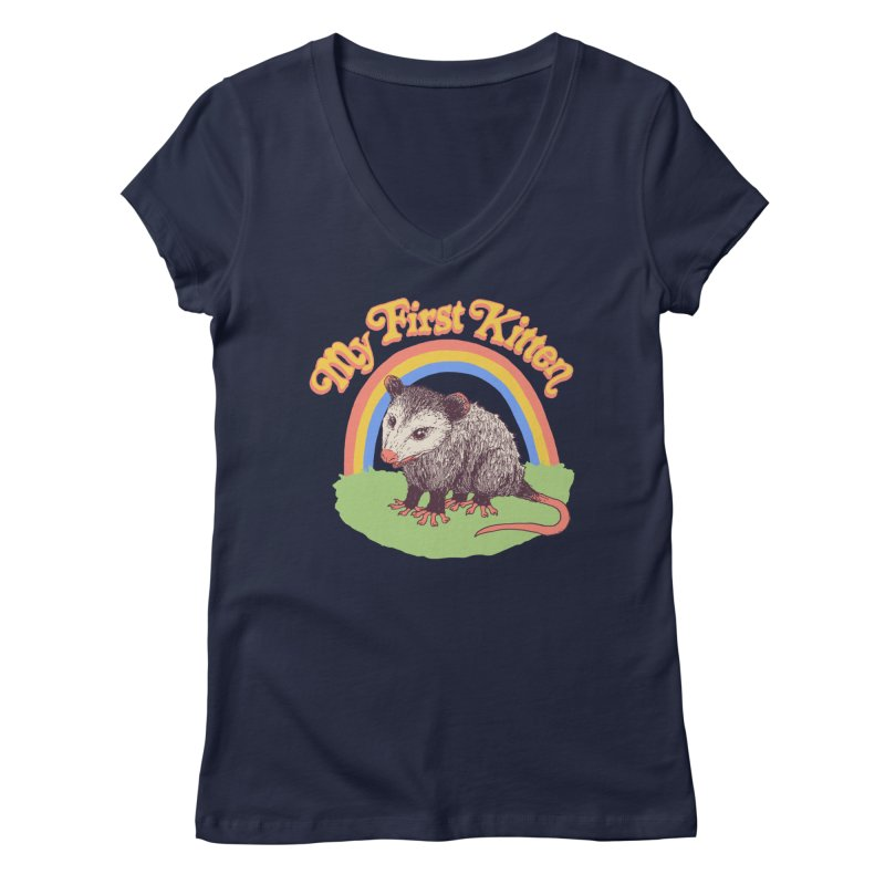 My First Kitten Women's Regular V-Neck by Hillary White