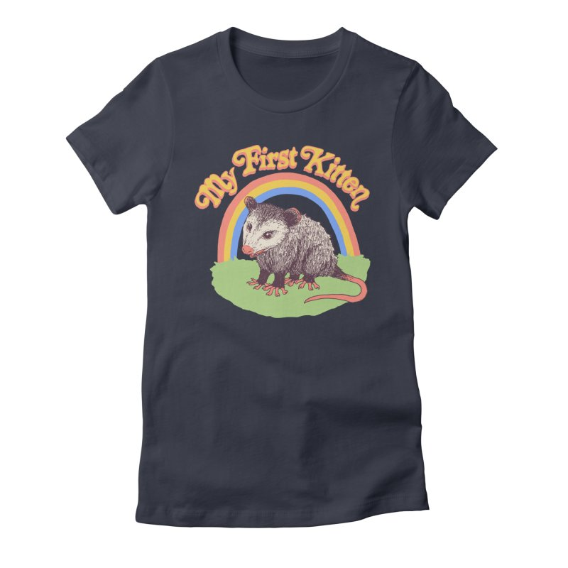 My First Kitten Women's Fitted T-Shirt by Hillary White