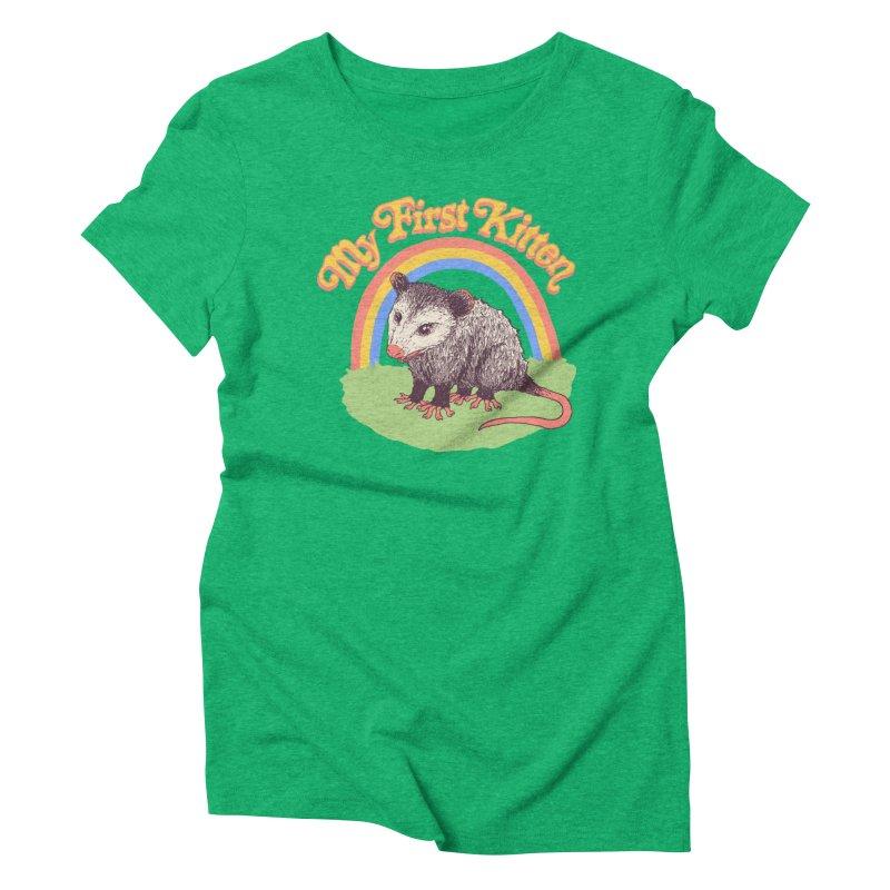 My First Kitten Women's Triblend T-Shirt by Hillary White