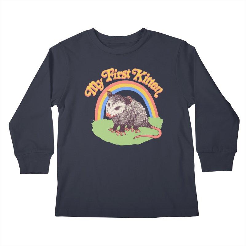 My First Kitten Kids Longsleeve T-Shirt by Hillary White