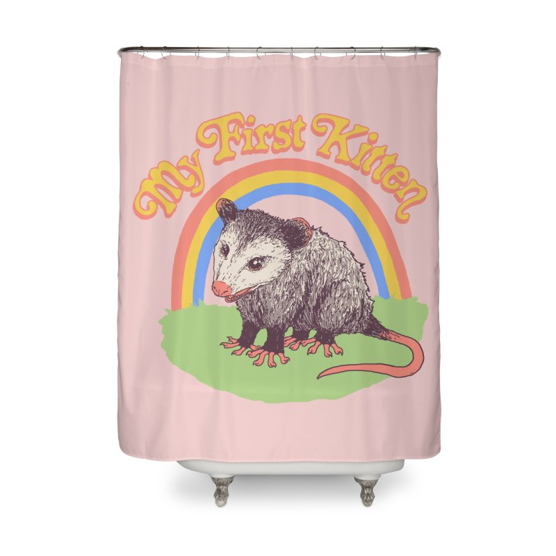 My First Kitten Home Shower Curtain by Hillary White