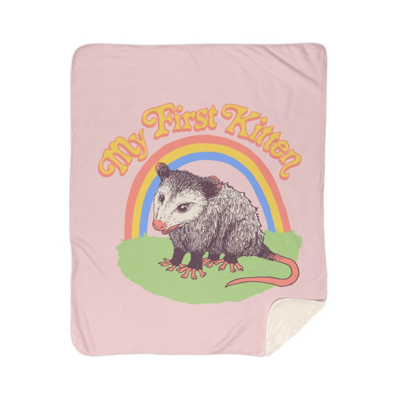 My First Kitten Home Sherpa Blanket Blanket by Hillary White